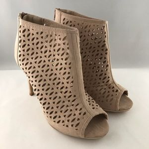 Torrid Blush Nude Cut Out Heel Bootie Size 9